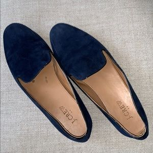 "J. Crew Navy Blue Suede Loafers Flats 9 ""Addie"""